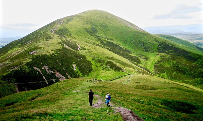 The Pentland Hills are ideal for walking; weather permitting.