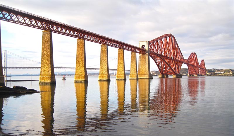 The Forth Bridge, viewed from South Queensferry.