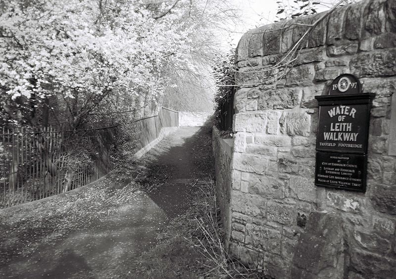 The Water of Leith path passes close by to the Union's offices.
