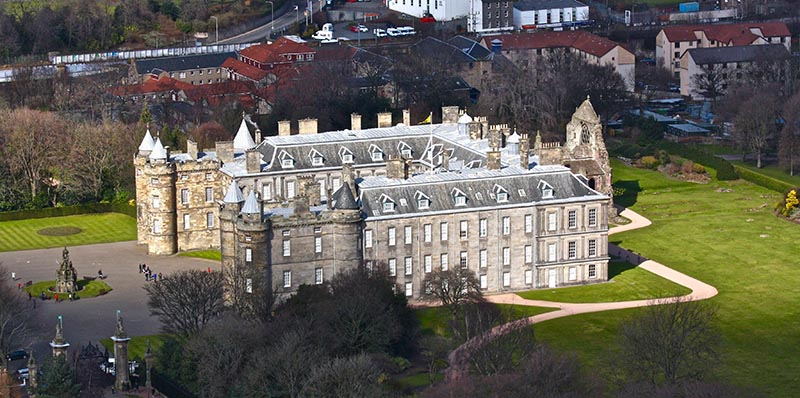 Holyrood Palace, the Queen's official residence when in Edinburgh.
